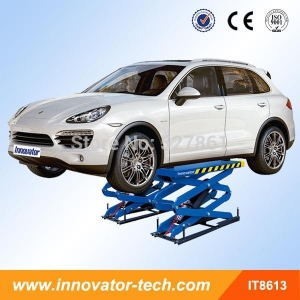 China In ground double scissor auto hoist with CE IT8613 on sale