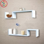 HAO DIY Floating Wall Shelves,Wooden Shelves,Romantic Wall Shelving with Candle