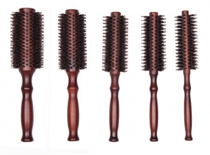 China Wooden Pandle Pig Bristle Revlon Synthetic Hair Brush on sale