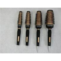 China Ceramic Tourmaline and Ion Big Round New Staightening Hair Brush on sale
