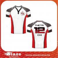 China Short Sleeve Fiji Cheap Custom Rugby Jersey on sale