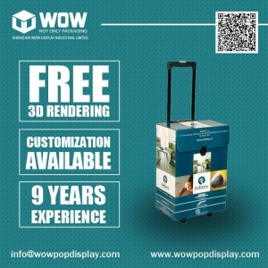 China Light Weight Cardboard Trolley Boxes, Paper Trolley Boxes for Trade Show on sale