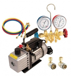 China One FJC A/C Vacuum Pump Kit w/ R134a Manifold Gauge Set on sale