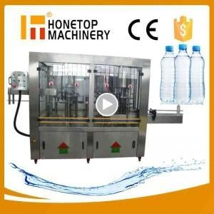 China Small mineral water bottle filling capping and labeling machine-Honetop Machinery on sale