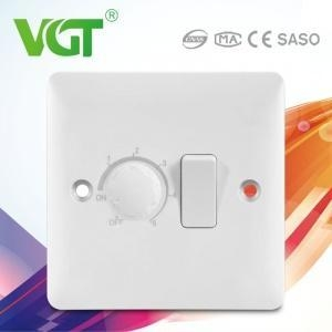 China British type Switch Socket S881 1gang switch with 1gang fan dimmer on sale