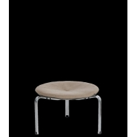 China Poul Kjrholm PK33 stool modern leather stool DIS-S-0022 on sale