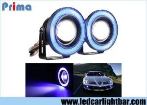 China 3.5 Inch Projector Led Fog Lights , Halo Angel Eye Rings Car Fog Lamps on sale