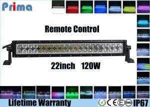 China 120W 22 Inch LED Fog Light Bar , Spot / Flood / Combo RGB Halo LED Light Bar on sale