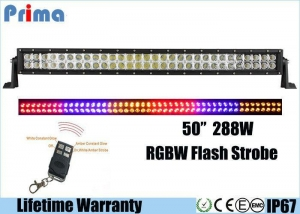 China 288W 50 Inch Remote Control LED Light Bar , 25920 Lumen RGB Light Bar on sale