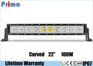 China Single Row 22 Inch Cree Curved LED Light Bar 100W High Power Cool White 6000K Jeep Roof Bar on sale