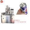 China Pneumatic Auto Aerosol Spray Filling Machine for Shaving Gel / Shaving Foam on sale