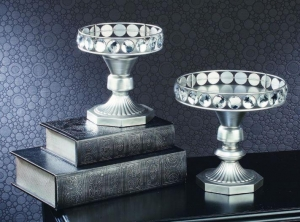 China Riser Set - Elevated Silver Trays with Acrylic Accents on sale