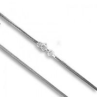 Fashion Fine Braided Chain Necklace Jewerly in 925 Sterling Silver For Men or Women