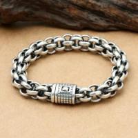 High-grade 925 Sterling Sivler Multiple Rings Link Bracelet for Cool Men