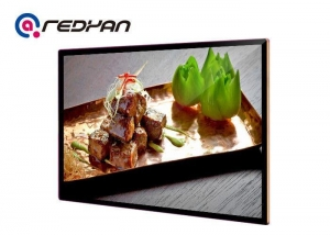 China Fast Food Menu Board Digital Signage Software , Black Metal Bezel LCD Display on sale