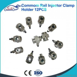 China Diesel Fuel Injector clamps common rail injector adaptors CR tool injector repair tool 12pcs kit on sale
