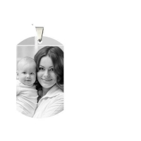 China Photo Series Photo Engraved Titanium Steel Man's Dog Tag Necklace on sale