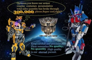 China 12 Types Awesome Cosplay robot Costume Transformers Character Bumblebee Costume with Led Lights on sale