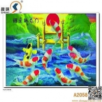 3D Animal Lenticulre Pictures of Leaping Fish , A2058