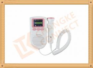 China Color LCD TFT Display FHR Ultrasound Pocket Fetal Doppler Fetal Heart Rate on sale