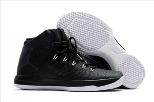 China Air Jordan Item_name: Men Air Jordan XXXI AJ31 Black cat Retro Black Shoes A on sale