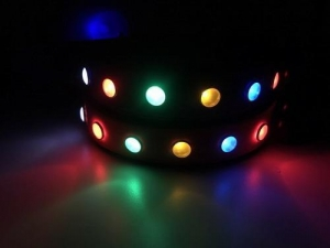 China 2017 Night Safety Dog Collar Waterproof LED Pet Flashing Collar made from PVC on sale