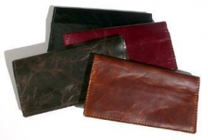 China Leather Cheque Book Cover (for left-bound checks) on sale