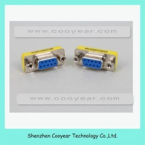 China DB9 Female To Female Mini VGA Gender Changer Adapter RS232 Serial Connector on sale
