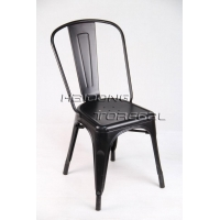 M-TX-60 Black Color Industrial Furniture Vintage Outdoor Stacking Tolis Marais Chair