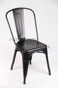 China M-TX-60 Black Color Industrial Furniture Vintage Outdoor Stacking Tolis Marais Chair on sale