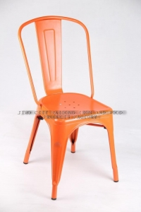 China Cafe Marais Metal Leisure Tolix Chair Stackable--M-TX-60 Orange Color on sale