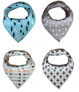 China Washable Pure Cotton Drool Bibs with Adjustable Snaps for Unisex Baby Shower Gift on sale