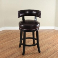 Monsoon Mossoro Swivel Leather Counter Stool