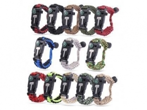 China Multifunctional Outdoor Adventure 550 paracord bracelet kit on sale
