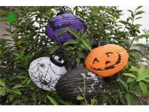 China Hang jack-pumpkin paper lanterns and hang jack-pumpkin paper lanterns in hand on sale