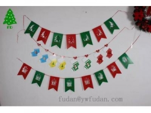 China The new Christmas party dress up the party decoration party decoration flags pull banner banners on sale
