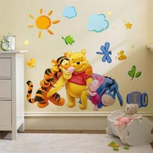 China Pooh & Friends Wall Sticker on sale