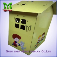 China Custom Painting Corrugated Cardboard Kids Toys Eco - friendly Paperboard Playhouse on sale