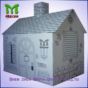China Customized Printing Cardboard Kids Toys Cat , Dog house / playhouse on sale
