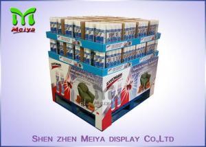 China Moisture Proof Cardboard Pallet Display Racks / Advertising Cardboard Standees For Noodles on sale