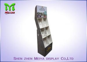 China Eye-catching magazines cardboard floor display stands, books cardboard display shelves on sale