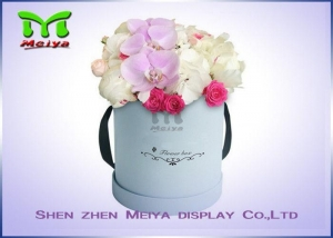 China Romantic Beautiful Flower Gift Luxury Flower Box With Ribbon , Flower Hat Box on sale