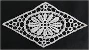 China 1 White Diamond Shaped Venice Applique 5 3/4 W (B 8) on sale