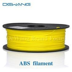 China Yellow 3.0mm ABS Filament 1KG Spool for 3D Printer Makerbot Mendel Reprap on sale
