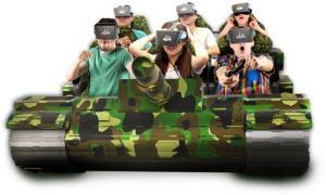 China New Design VR Tank Simulator Cool 9D Tank VR Cinema Games on sale
