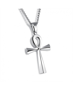 China Classical Cross Pendant Necklace For Men Gold Plated Stainless Steel Chain Necklaces Boys Jewelry on sale