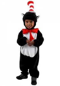China Child Halloween Costumes Infant Cat in the Hat Storybook Costume on sale