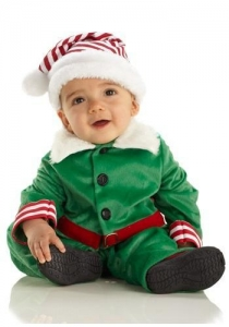 China Child Halloween Costumes Baby Christmas Elf Costume on sale