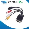 China 15 PIN VGA to S Video 3 RCA Composite AV Cable Adapter for sale