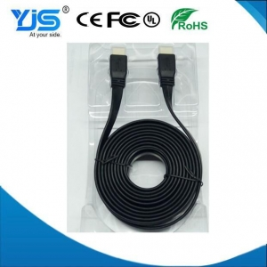China High Performance 1.8M 20PIN HDMI Cable High Speed Metallic Flat Ribbon HDMI 1.4 Versions on sale